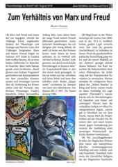 """Theoriebeilage zur Avanti² Juli/Aug 2018 """"um Verhältnis von Marx und Freud""""."""