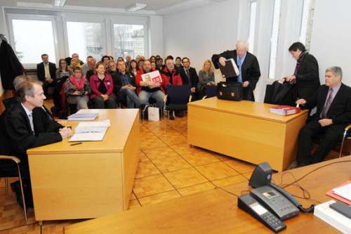 LAG-Termin zum Verfahren Volksbank Kraichgau gegen Torsten Wacker, 28.01.2015, Foto:  helmut-roos@web.de
