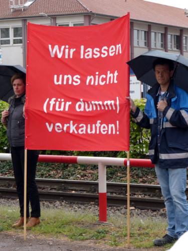 """Immer noch """"aktive Mittagspausen"""" bei ICL in Ladenburg und Ludwigshafen, hier am 27. April in Ludwigshafen, Foto: Avanti²"""