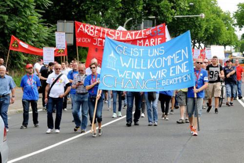 Alstom Protestdemo am 29.06.2015 in Mannheim, Foto: helmut-roos@web.de