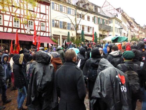 Demo gegen NPD-Parteitag, Weinheim, 21.11.2015, Foto: Avanti²