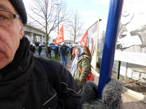 Antifaschistische Proteste in Ludwigshafen am 8.2.2015, Foto: Avanti²