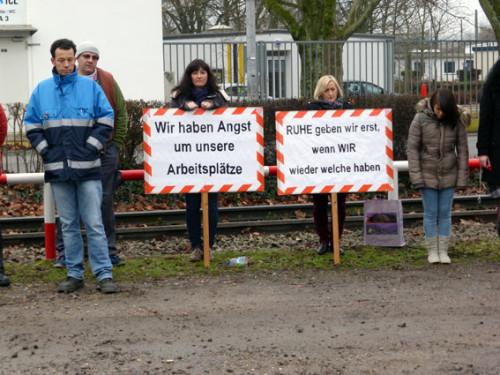 ICL (Ex-Giulini): Fortsetzung der Proteste gegen Standortzerschlagung am 19. Januar 2015 in Ludwigshafen, Foto: Avanti²