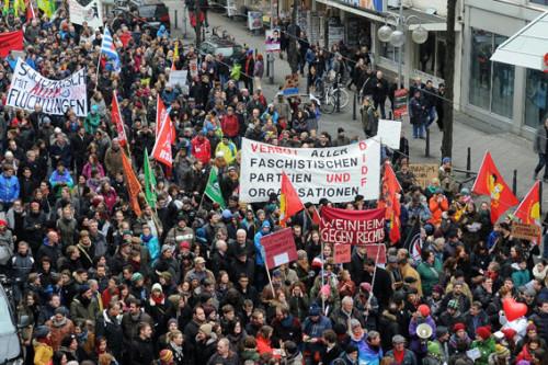 Demo am 17.01.2015 auf der Breiten Strasse in Mannheim, Foto: helmut-roos@web.de