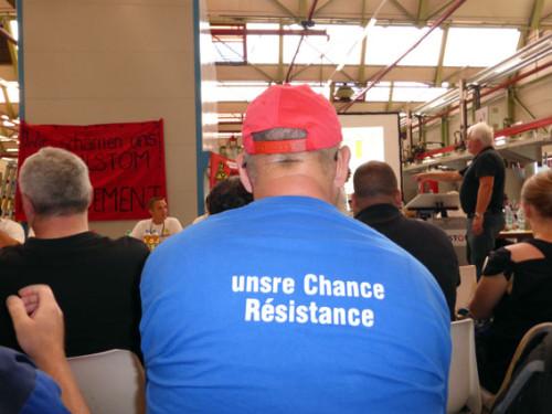 30.6. Erneute Mannheimer Solidarität mit den KollegInnen von ALSTOM Bexbach, Foto: Avanti²