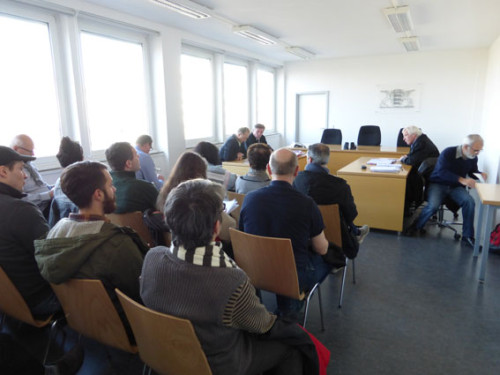 LAG-Prozess gegen Rhenus Mannheim wegen BR-Mobbing am 12.03.2015, Foto: Avanti²