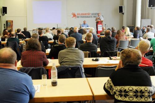 """""""Betriebsräte im Visier - Bossing, Mobbing Co."""" - erfolgreiche 2. bundesweite Konferenz in Mannheim am 17. Oktober 2015, Foto: Avanti²"""