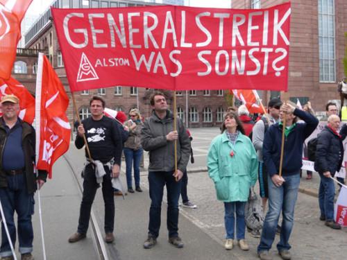 Demonstration gegen das Tarifeinheitsgesetz in Frankfurt/Main, 18.04. 2015, Foto: Avanti²