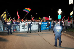Proteste gegen AfD-Veranstaltung in Mannheim-Feudenheim am 28.01.2016, Foto: helmut-roos@web.de