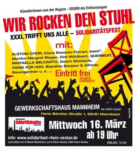 Solidaritätsfest XXXL Mannheim