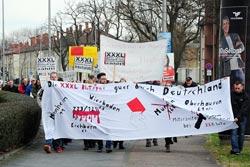 07.03.2016 XXXL-Beschäftigte solidarisch mit GE-KollegInnen, Foto: helmut-roos@web.de