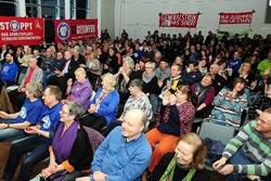 16.03.2016 Solidaritätsfest für die XXXL KollegInnen, Foto: helmut-roos@web.de