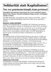 Das Flugblatt des RSB Rhein-Neckar zum 1. Mai 2016