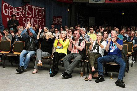 Solidaritätsfest für die Beschäftigten von GE am 13. Mai im Kulturhaus Käfertal. Foto: helmut-roos@web.de