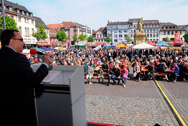 1 Mai 2016 in Mannheim, Foto: helmut-roos@web.de