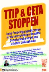 Mobilisierungsflugblatt des Mannheimer Bündnisses gegen TTIP & CETA zur Demo am 17.9.2016 in Stuttgart- Kein Ermächtigungsabkommen