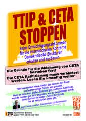 Das aktuelle Flugblatt des Mannheimer Bündnisses gegen TTIP, CETA  und TiSA zur Ratifizierung von CETA