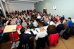 Großes Interesse an der XXXL-Infoveranstaltung des Zukunftsforums Gewerkschaften am 17. Februar. Foto: helmut-roos@web.de