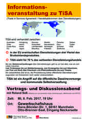 Informationsveranstaltung zu TiSA