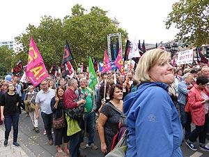Am 17. September gehen allein in Deutschland 320.000 Menschen gegen CETA & Co. auf die Straße. In Frankfurt sind es etwa 40.000. Foto: Avanti²