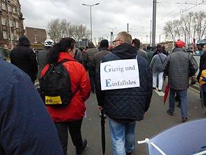 Am 13. Januar gibt das GE-Management seine Kahlschlagpläne teilweise bekannt.  Die Belegschaft demonstriert in Mannheim. Foto: Avanti²