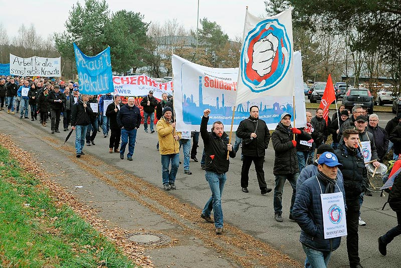 GE-Demo in Bexbach 12. Dezember 2016. Foto: helmut-roos@web.de