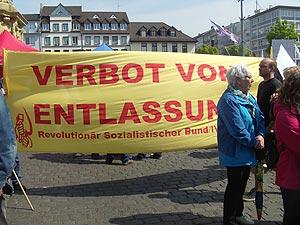 Der 1. Mai in Mannheim: Kundgebung auf dem Paradeplatz. Foto: Avanti²