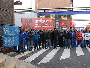 Eine weitere Protestaktion findet bei GE Mannheim am 28. November statt. Foto: Avanti²