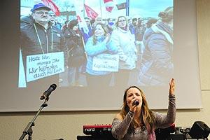 Das großartige XXXL-Solifest Mannheim am 16. März 2016 wird von Bernd Köhler organisiert - mit Unterstützung unter anderem des Überbetrieblichen Solidaritätslomitees Rhein-Neckar. Foto: helmut-roos@web.de