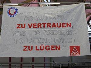 Die KollegInnen von GE demonstrieren am 17. Oktober in die Mannheimer Innenstadt. Foto: Avanti²