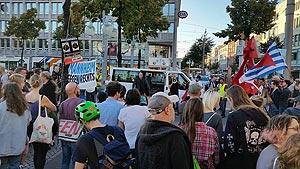Erneuter Protest gegen die AfD - Kundgebung auf dem Mannheimer Paradeplatz am 29. September. Foto: Avanti²