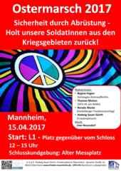 Ostermarsch 2017 Mannheim