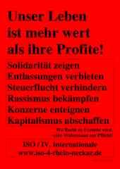 Plakat der ISO Rhein-Neckar zum 1. Mai 2017