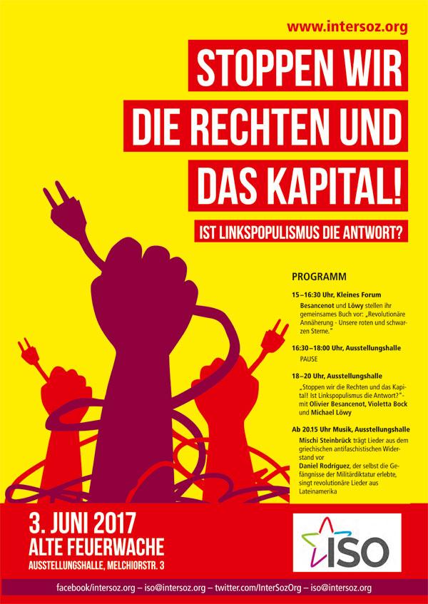 Plakat der ISO zur Veranstaltung am 3.6.2017 in Köln