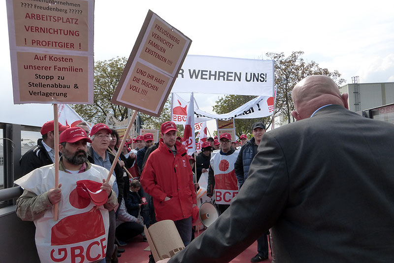 Protest gegen Abbau bei Freudenberg am 27.04.2017 in Weinheim. Foto: Avanti²