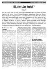 "Sonderbeilage 150 Jahre ""Das Kapital""."