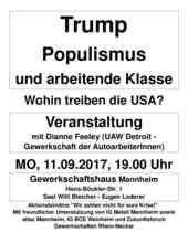 Veranstaltung mit Dianne Feeley am 11.9.2017 in Mannheim