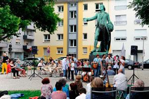 Schillerplatz Mannheim, Auftakt am 25.06.2017. Foto: helmut-roos@web.de