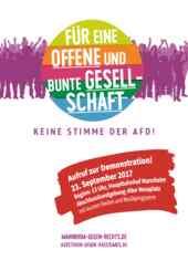 Demoaufruf gegen die AfD am 23.9.2017 in Mannheim
