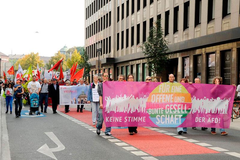 Demo gegen AfD in Mannheim, 23.09.2017. Foto: helmut-roos@web.de