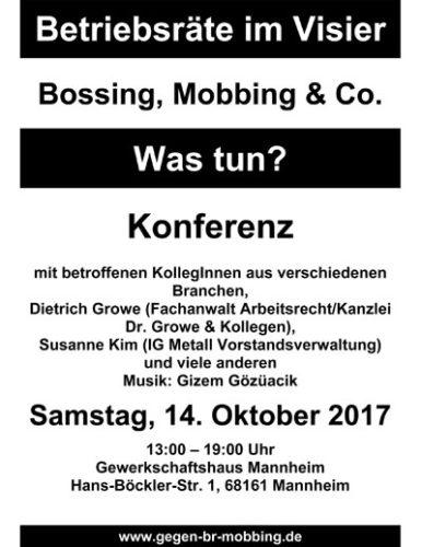 4. Konferenz gegen BR-Mobbing in Mannheim.