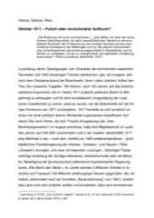 Vortrag Helmut, Dahmer, Wien Oktober 1917 – Putsch oder revolutionärer Aufbruch?