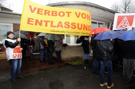 IGM-Protestkundgebung gegen Entlassungen bei GE Mannheim, 11.12.2017, Foto: Helmut-Roos@web.de.