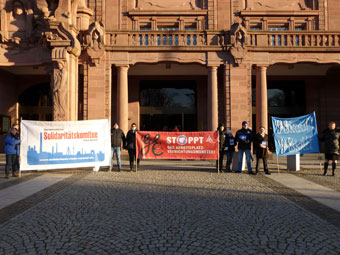 Aktion beim Neujahrsempfang der Stadt Mannheim, 06.01.2017. Foto: Avanti².
