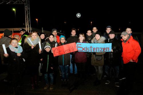 Lichterlauf bei GE Mannheim, 13.01.2017. Foto: Helmut-Roos@web.de.