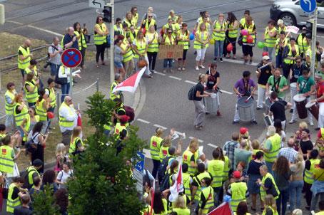 Streik im Mannheimer Einzelhandel, 27.06.2017. Foto: Avanti².