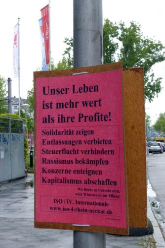 ISO-Plakat in Mannheim, 02.06.2017. Foto: Avanti².