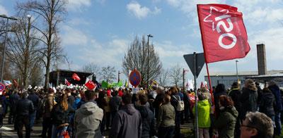 Demo gegen Naziaufmarsch am 24.03.2018 in Kandel (Foto: Avanti)