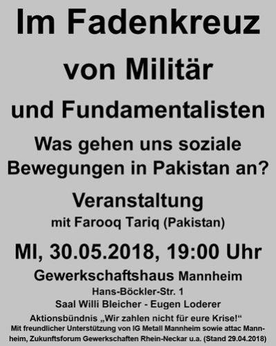 Im Fadenkreuz von Militär und Fundamentalisten (Veranstaltungsflyer)