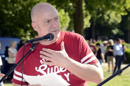 Festredner Klaus Stein - IGM Mannheim (Foto: Helmut-roos@web.de)
